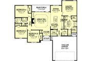 Traditional Style House Plan - 4 Beds 2 Baths 1750 Sq/Ft Plan #430-69 Floor Plan - Main Floor Plan