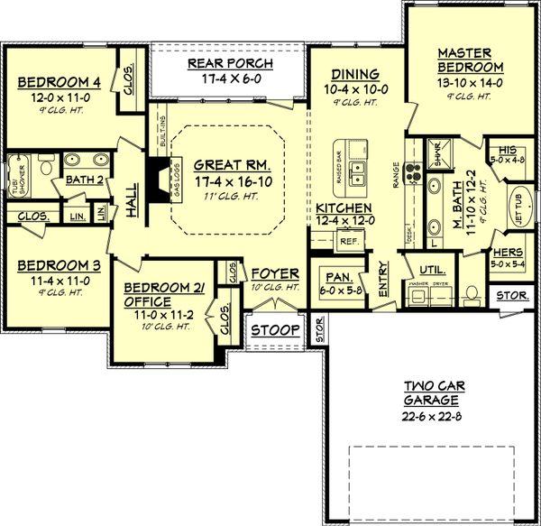 Dream House Plan - Traditional Floor Plan - Main Floor Plan #430-69