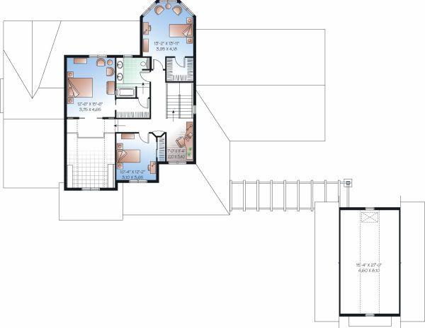 Farmhouse Floor Plan - Upper Floor Plan Plan #23-830