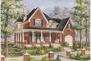 Country Exterior - Front Elevation Plan #25-4779