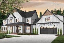 Dream House Plan - Farmhouse Exterior - Front Elevation Plan #23-2687