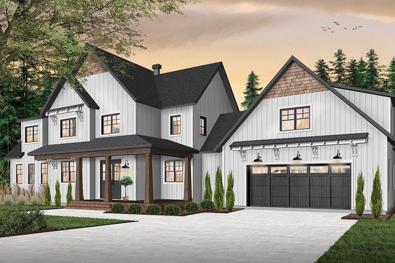 House Plan Design - Farmhouse Exterior - Front Elevation Plan #23-2687