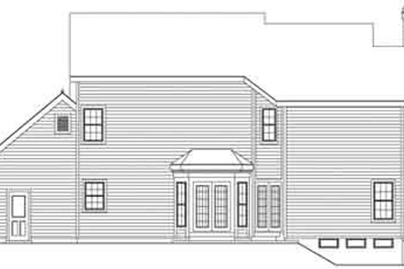 Country Exterior - Rear Elevation Plan #57-132 - Houseplans.com