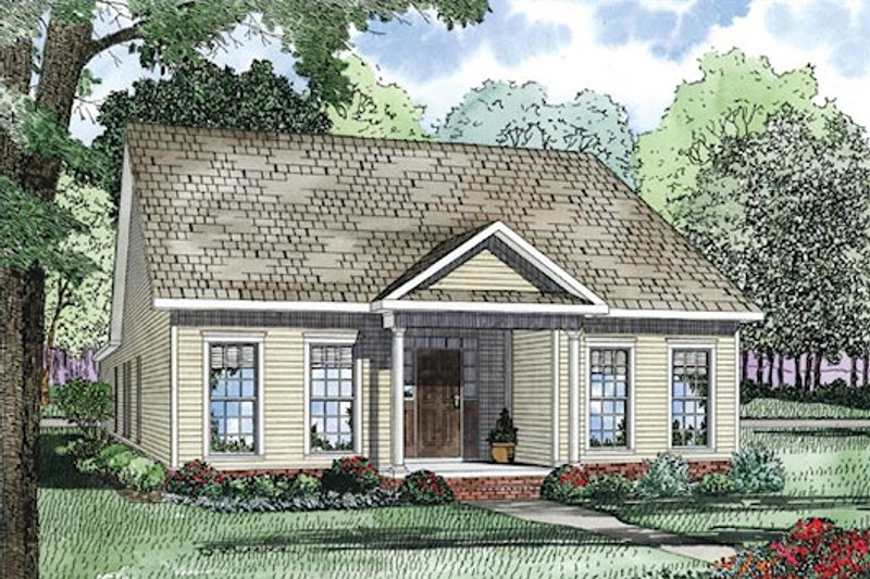 Traditional Exterior - Front Elevation Plan #17-2420 - Houseplans.com
