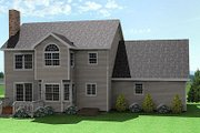 Farmhouse Style House Plan - 3 Beds 2.5 Baths 1935 Sq/Ft Plan #75-161 Exterior - Rear Elevation