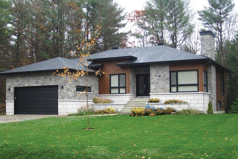 House Plan Design - Contemporary style urban design elevation