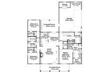 Farmhouse Floor Plan - Main Floor Plan Plan #21-442