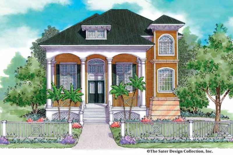 Classical Exterior - Front Elevation Plan #930-144