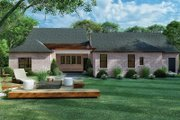 European Style House Plan - 4 Beds 3 Baths 2577 Sq/Ft Plan #923-167 Exterior - Rear Elevation