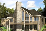 Cabin Style House Plan - 3 Beds 2.5 Baths 2344 Sq/Ft Plan #138-349