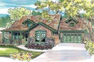 Craftsman Exterior - Front Elevation Plan #124-453