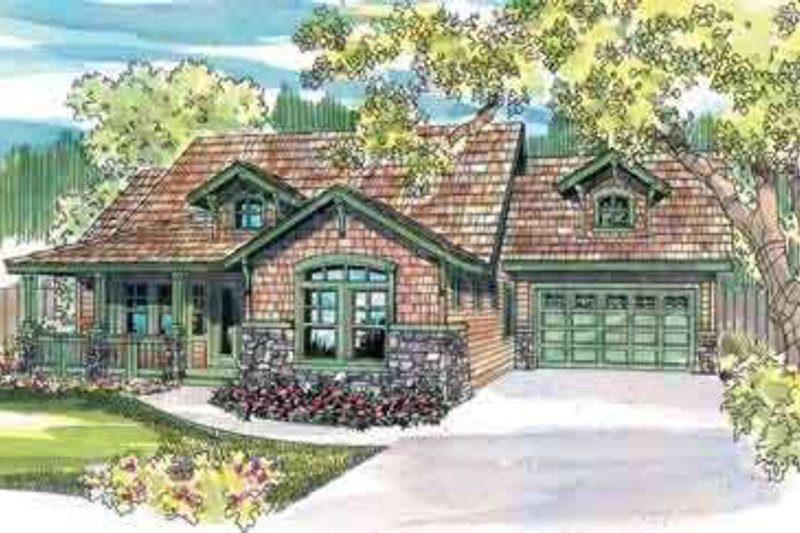Craftsman Exterior - Front Elevation Plan #124-453 - Houseplans.com