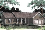 Ranch Style House Plan - 3 Beds 2 Baths 1428 Sq/Ft Plan #56-118 Exterior - Front Elevation