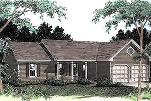 Ranch Exterior - Front Elevation Plan #56-118