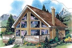House Design - Cabin Exterior - Front Elevation Plan #18-4501