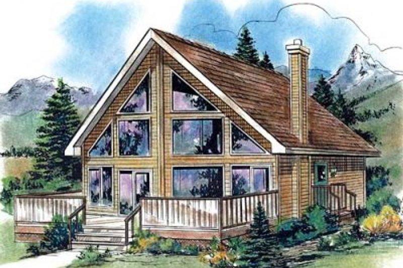 House Design - Cabin Exterior - Front Elevation Plan #18-4501