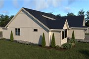 Farmhouse Style House Plan - 3 Beds 2 Baths 1690 Sq/Ft Plan #1070-21 Exterior - Other Elevation