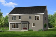 House Plan Design - Craftsman Exterior - Rear Elevation Plan #1057-31