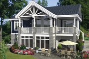 Country Style House Plan - 2 Beds 1 Baths 1104 Sq/Ft Plan #25-4358 Exterior - Front Elevation