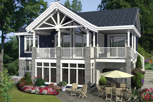 Country Exterior - Front Elevation Plan #25-4358