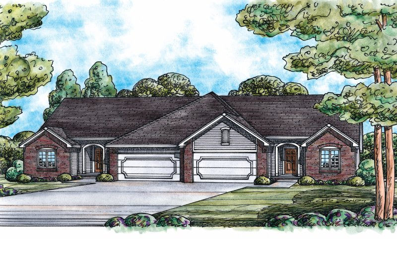 Home Plan - Traditional Exterior - Front Elevation Plan #20-1558