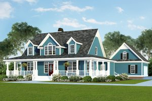 Architectural House Design - Farmhouse Exterior - Front Elevation Plan #929-553