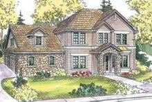 Dream House Plan - Traditional Exterior - Front Elevation Plan #124-598