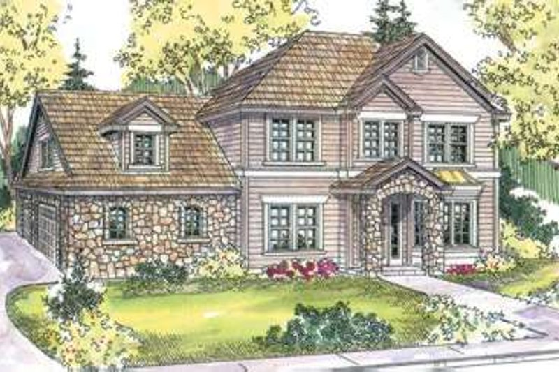 Traditional Exterior - Front Elevation Plan #124-598