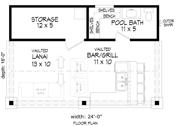 Country Floor Plan - Main Floor Plan Plan #932-287