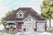 Traditional Style House Plan - 3 Beds 2 Baths 1386 Sq/Ft Plan #20-1242 Exterior - Front Elevation