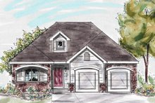 Traditional Exterior - Front Elevation Plan #20-1242