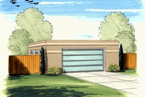Modern Exterior - Front Elevation Plan #455-43