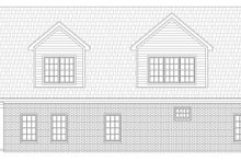 Home Plan - Traditional Exterior - Rear Elevation Plan #932-402