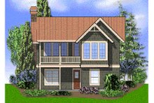 Farmhouse Exterior - Rear Elevation Plan #48-276