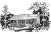 Cabin Style House Plan - 1 Beds 1 Baths 480 Sq/Ft Plan #22-127 Exterior - Other Elevation