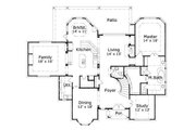 European Style House Plan - 4 Beds 2.5 Baths 3391 Sq/Ft Plan #411-562 Floor Plan - Main Floor Plan