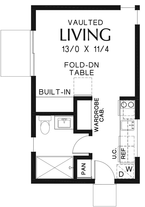 Contemporary Floor Plan - Main Floor Plan Plan #48-954