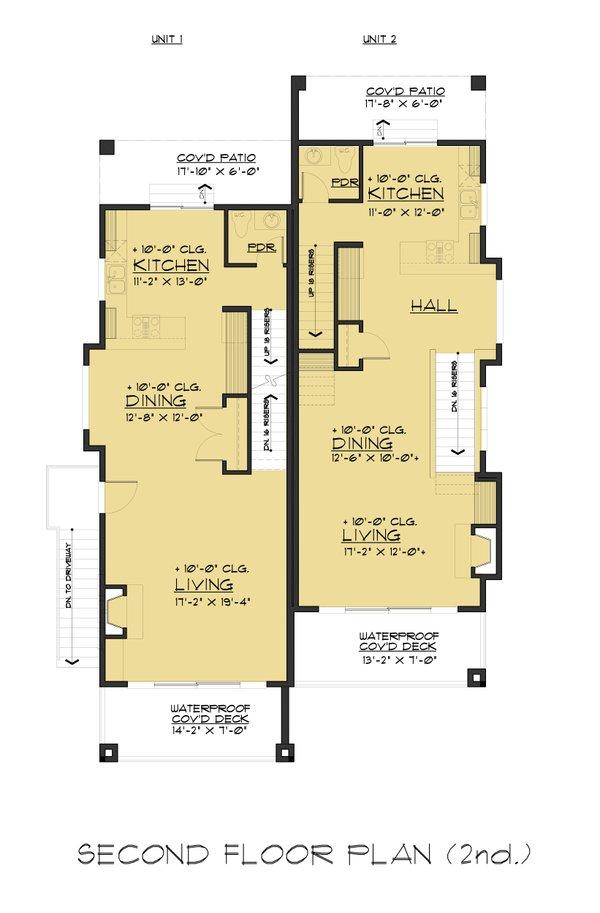 Contemporary Floor Plan - Main Floor Plan Plan #1066-71
