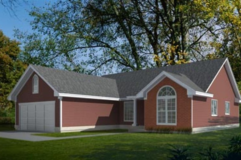 Traditional Exterior - Front Elevation Plan #92-118 - Houseplans.com