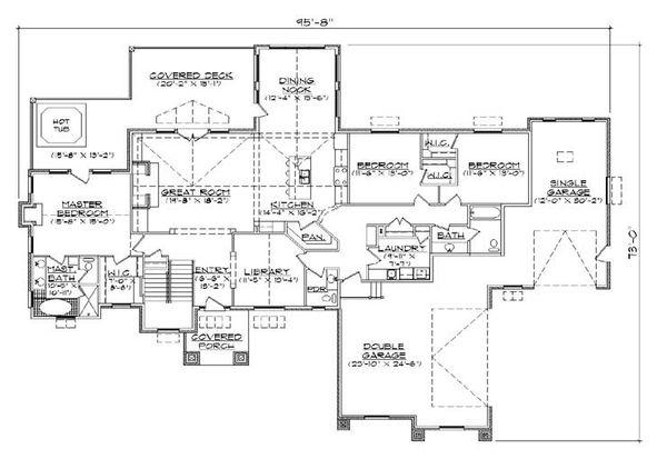 Craftsman Floor Plan - Main Floor Plan Plan #5-308