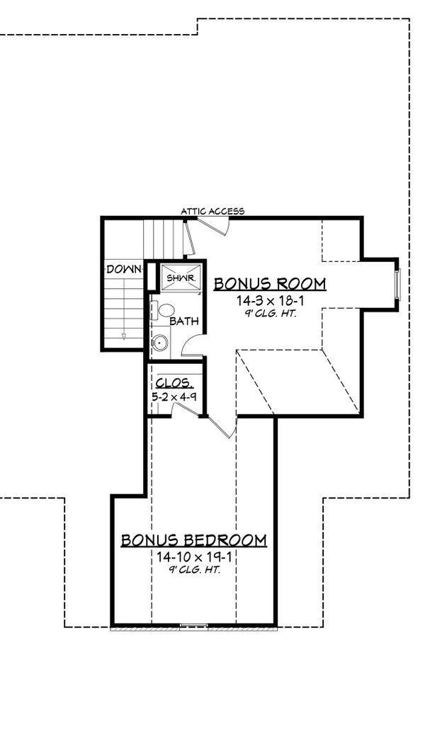 Country Floor Plan - Upper Floor Plan Plan #430-135
