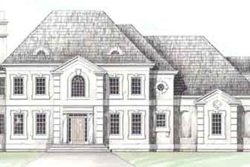 Colonial Exterior - Front Elevation Plan #119-112