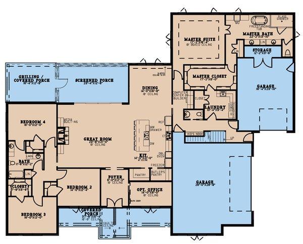 Dream House Plan - Craftsman Floor Plan - Main Floor Plan #923-215