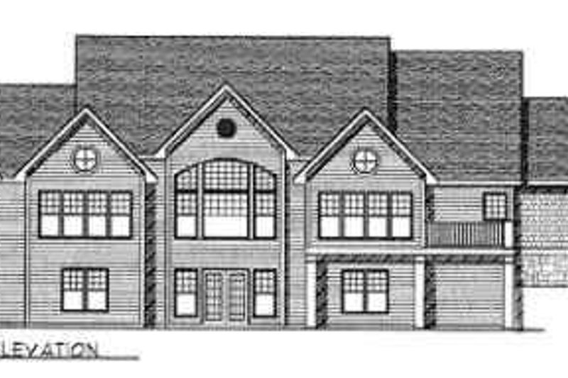 Traditional Exterior - Rear Elevation Plan #70-356 - Houseplans.com