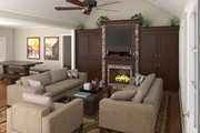 Country Style House Plan - 3 Beds 3 Baths 1800 Sq/Ft Plan #21-151 Interior - Family Room
