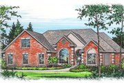 Mediterranean Style House Plan - 3 Beds 2 Baths 2216 Sq/Ft Plan #15-248 Exterior - Front Elevation