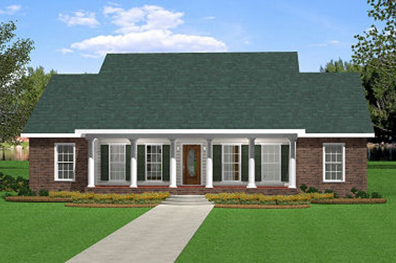 Architectural House Design - Southern Exterior - Front Elevation Plan #44-153