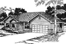 Ranch Exterior - Front Elevation Plan #124-332