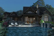Architectural House Design - Craftsman Exterior - Outdoor Living Plan #120-168