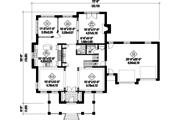 European Style House Plan - 4 Beds 3 Baths 3828 Sq/Ft Plan #25-4631 Floor Plan - Main Floor Plan